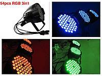 Прибор световой светодиодный Led par 54x3 RGBW 3в1 светомузыка