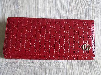 Модный кошелёк Gucci экокожа красный