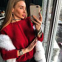 Женский свитер красивой вязки