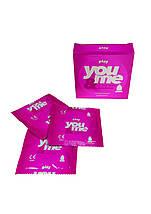 Презервативы ребристые  You&Me-play Упаковка 3шт.