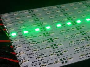 Светодиодная лента Premium SMD 5630/72 12V зеленый IP20 1м на алюминиевой подложке Код.57985, фото 2