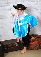 Детский карнавальный костюм Мушкетер Для мальчиков, Украина, Сказочные герои, Киногерои, Атлас, голубой