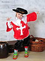 Детский карнавальный костюм Мушкетер красный