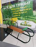 Санки зі спинкою та ручкою MBS 2 зелений Уркаїна 9951