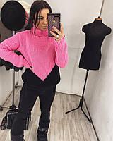 Очень красивый модный женский свитер под горло