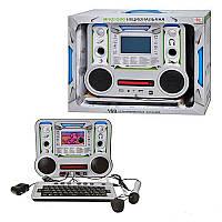 Детский развивающий ноутбук 8855E/R рус/англ. Динамики, наушники, микрофон, диск с программами.
