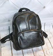 Рюкзак городской женский с ушками для девушек, девочек (черный), фото 1