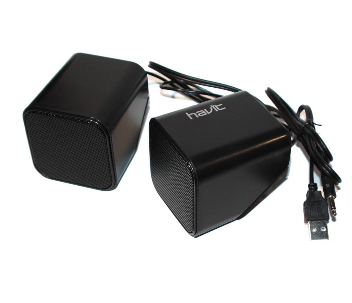 Колонки 2.0 Havit HV-SK473 Black, 2 x 3 Вт, пластиковый корпус, питани