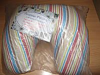 Подушка ортопедическая - подкова с гречневой лузгой и синтепухом (бязь)