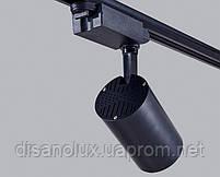 Светильник светодиодный трековый на шинопровод DL30-006 LED 30W 6500К  черный, фото 4