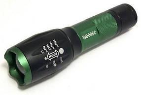 Ліхтар світлодіодний WD-086C акумуляторний T6 з фокусуванням