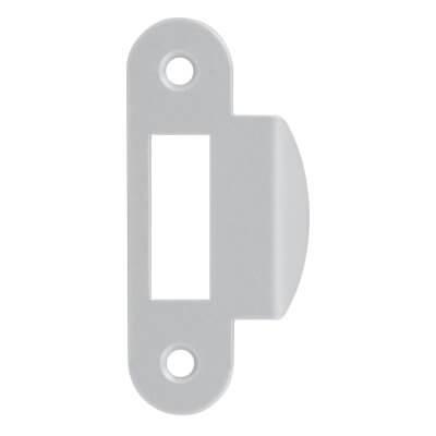 AGB Art. B010001341 Ответная планка к механизму совм. сатин хром с п/кр отб 8мм