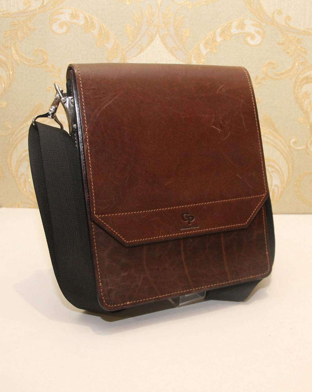 93f4b185d431 Сумка-планшет из плотной натуральной кожи Grande Pelle (10955) -  Интернет-магазин