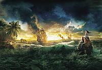 Фотообои фотошпалери Komar 1-408 Disney Pirates of the Caribbean Пираты Карибского моря 184х127 бумажные