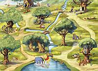 Фотообои фотошпалери Komar 4-453 Disney Hundertmorgenwald Винни-Пух 254х184 бумажные