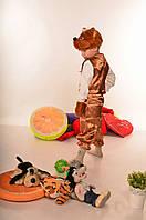 """Детский новогодний карнавальный костюм """"Мишка""""  Для мальчиков, Украина, Животные, коричневый"""