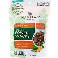 Navitas Organics, Мощный перекус с чиа и цитрусовым вкусом, 8 унций (227 г)