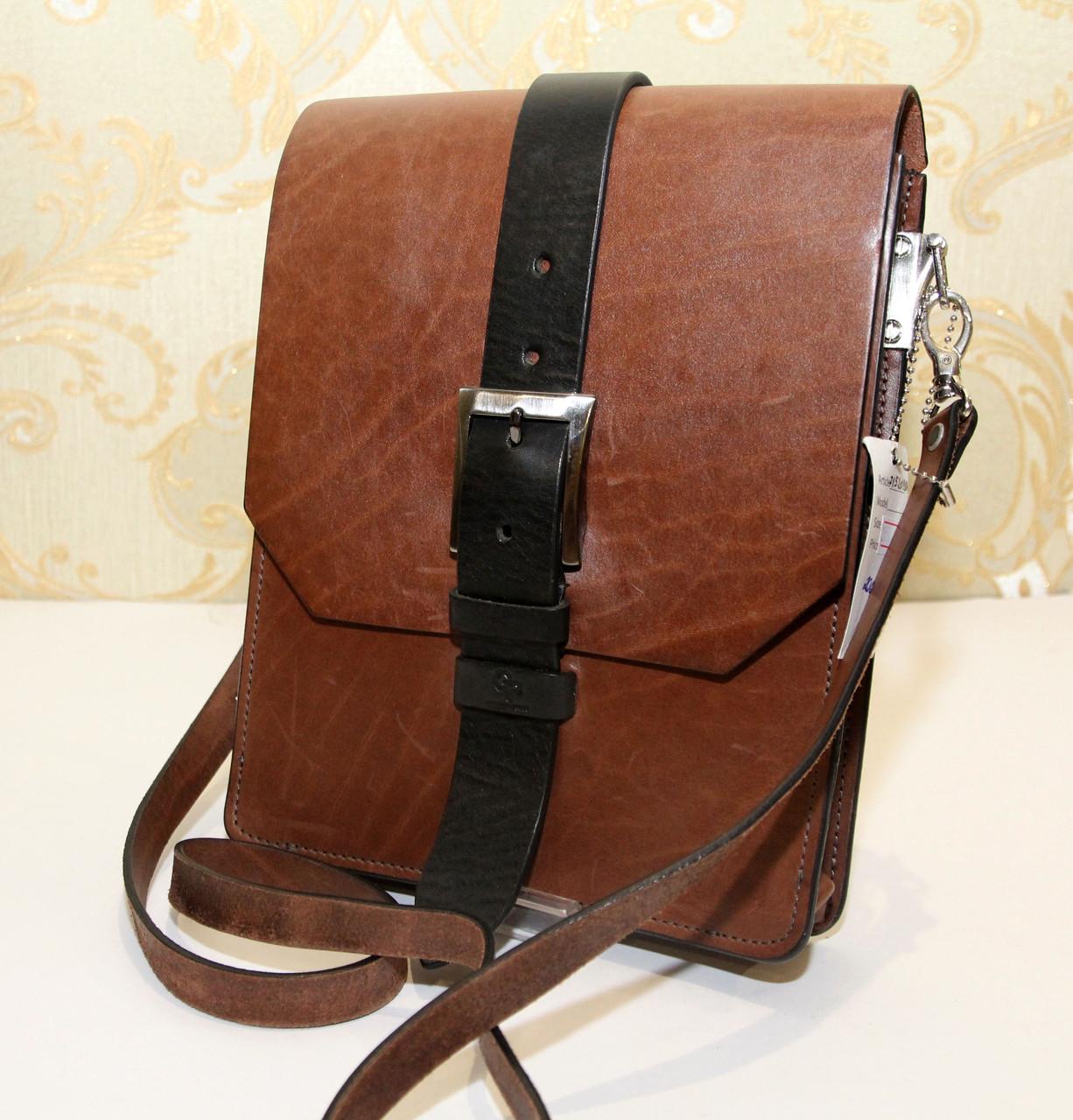 83230b313d7a Сумка-планшет из плотной натуральной кожи Grande Pelle(10956) -  Интернет-магазин
