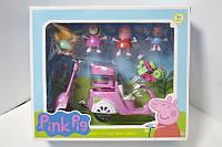 Игровой набор Свинка Пеппа и мопед в кор.26х9х22см