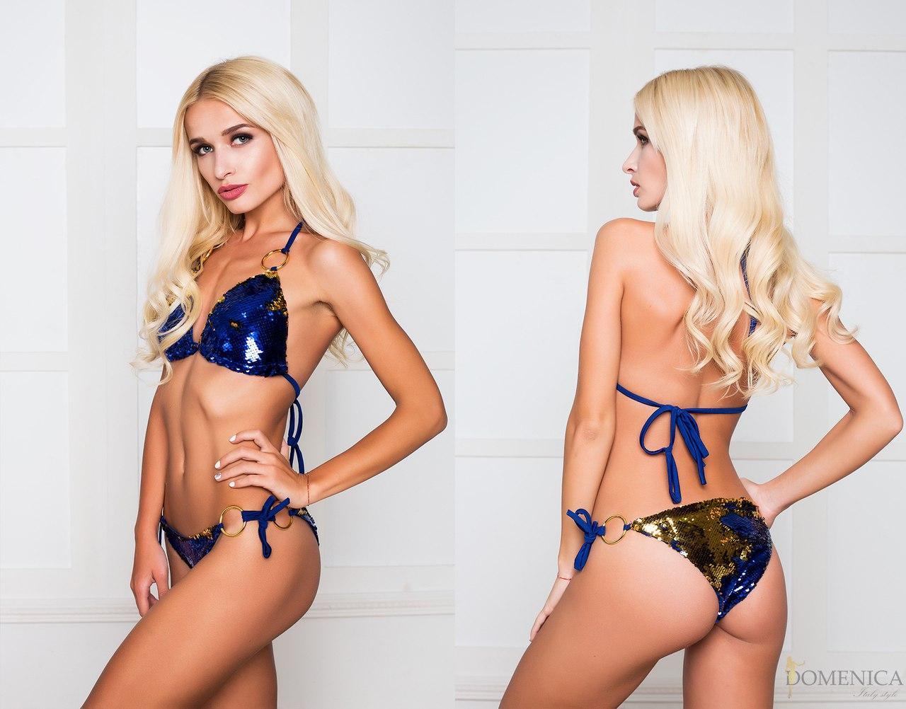 87a84c1f58e55 Красивый женский купальник из пайеток на подкладе c-311844 -  Интернет-магазин одежды