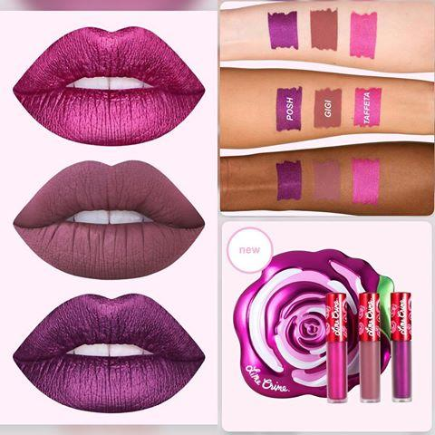 Набор помад Lime Crime Velve Tins - Fuchsia Rose