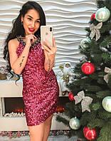 Яркое сверкающееся платье из пайетки , фото 1