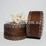 Лента из мешковины с леской, со строчкой, 4 см, цвет коричневый, 1 м, фото 2