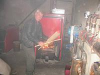 Закладка дров котел 175 квт на твердом топливе