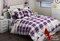 Полуторный комплект детского постельного белья ранфорс R2068 violet TM TAG