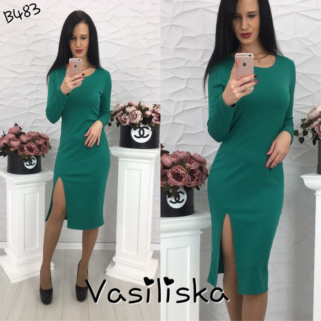 c83010fc6e0 Стильное зелёное трикотажное коктейльное платье ан-10667-3 — купить ...