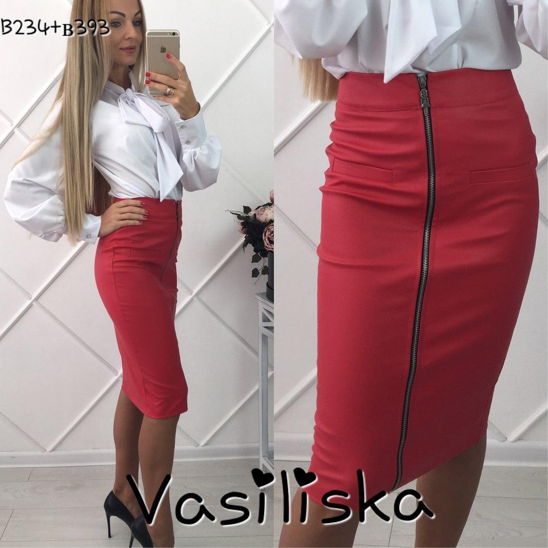 4f4447f7eb50 Модная красная кожаная юбка карандаш ан-10671-2