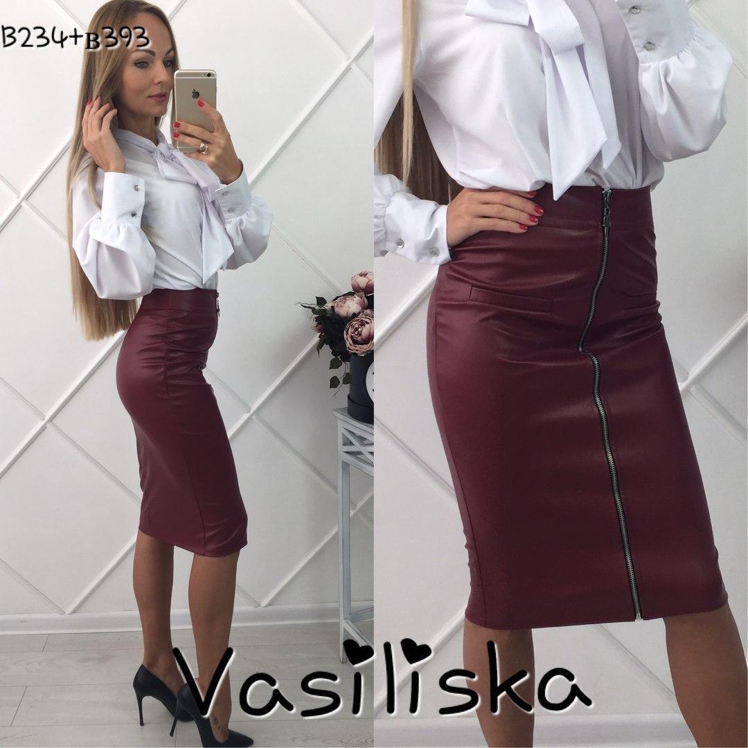 105a3814fb6 Модная бордовая кожаная юбка карандаш ан-10671-2 — купить недорого в ...