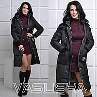 Модная удлиненная женская зимняя куртка ан-10676-3, фото 1