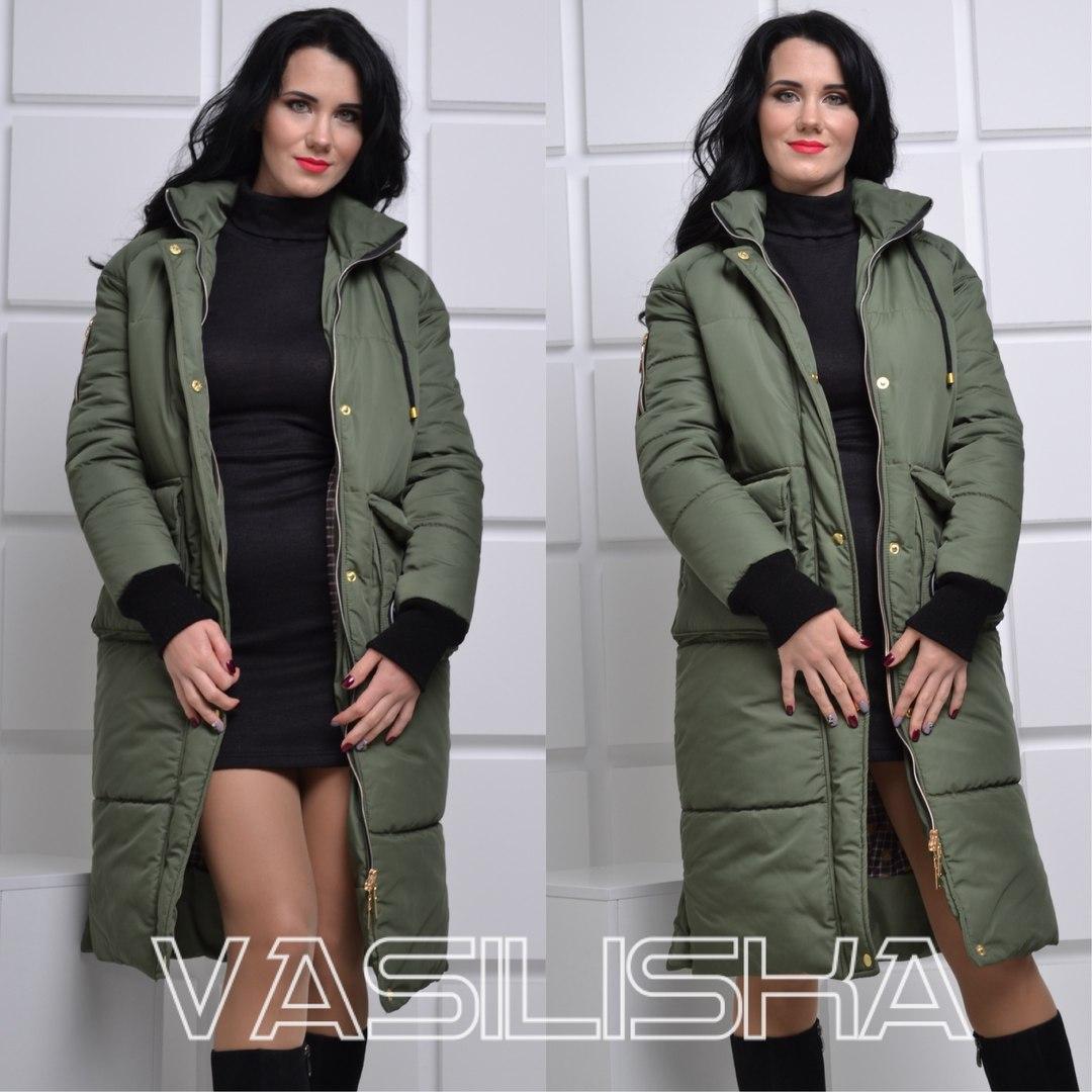 Модная удлинённая женская зимняя куртка ан-10676-6 — купить недорого ... e822f627268