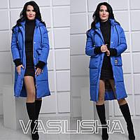 Модная удлиненная женская зимняя куртка ан-10676-7