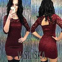 Короткое гипюровое платье ан-11695-3