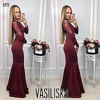 Красивое платье годе ан-11697-2, фото 1