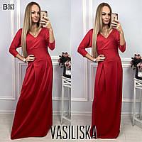 Стильное длинное платье ан-11698-2, фото 1