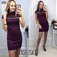 Красивое короткое платье с стразами ан-11711-1, фото 1