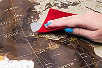 Скретч-карта мира My Map Chocolate edition, англ.