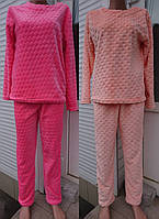 Женская пижама кофта и штаны из двухсторонней махры, женские теплые пижамы оптом от производителя