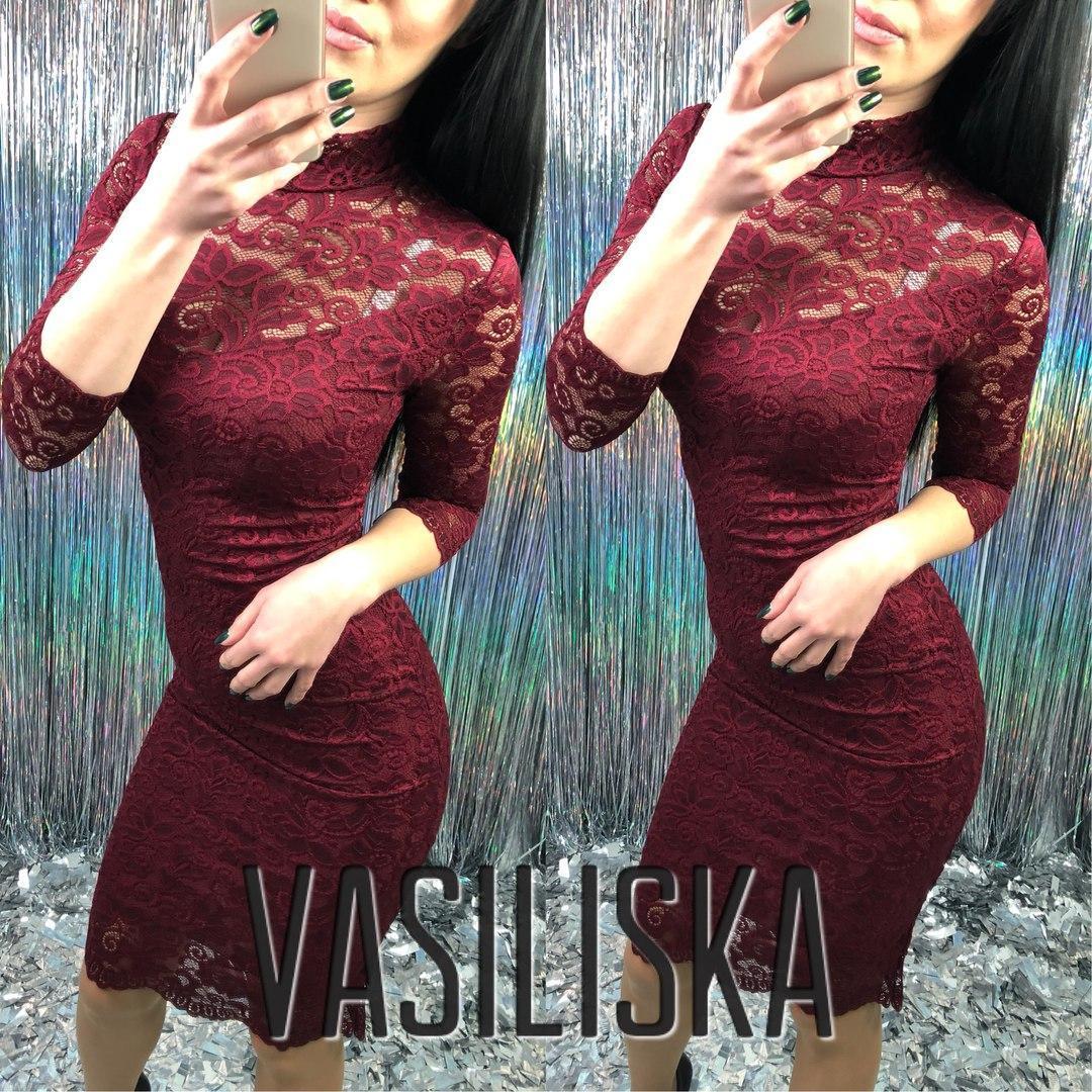 Кружевное нарядное платье ан-11736-2 - Интернет-магазин