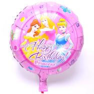 Повітряна кулька круглий з малюнком принцеси 45 см