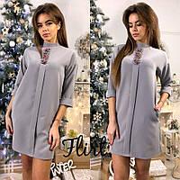 Красивое короткое платье из креп-костюмки тв-11005-1, фото 1