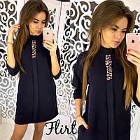 Красивое короткое платье из креп-костюмки тв-11005-4, фото 1
