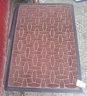 Коврик в прихожую 60 см х 90 см коричневый, фото 1