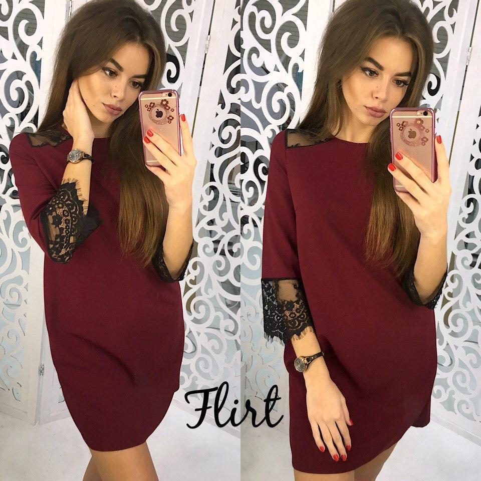 906130433a2 Прямое платье мини с кружевом тв-11011-5 — купить недорого в ...