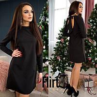Маленькое черное платье с длинным рукавом тв-11019-1