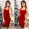 Коктейльное платье из бархата тв-12001-3