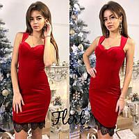 Коктейльное платье из бархата тв-12001-3, фото 1